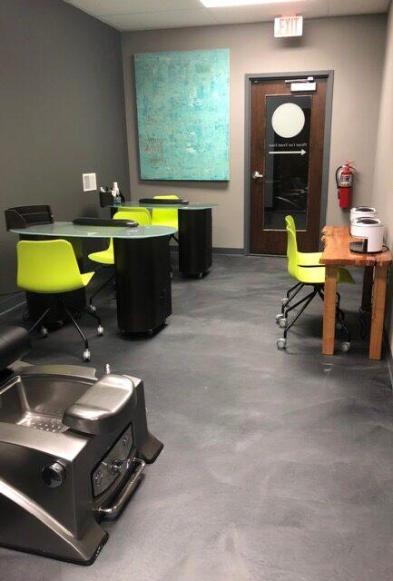 Zev Salon and Studio Manicure and Pedicure Area